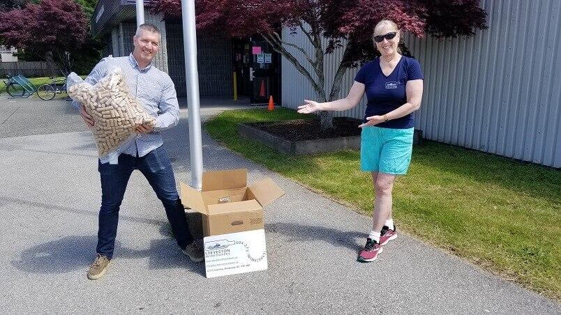 2020-08-27 Richmond News Corks Donation to Richmond School District