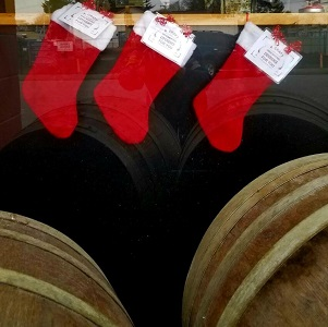 Holiday Window - Stockings