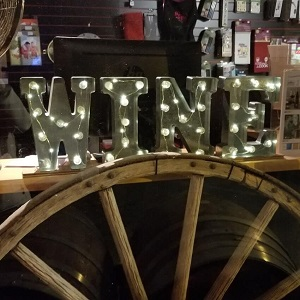 Holiday Window - Wine Sign