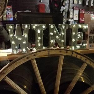 Holiday Window - Wine Sign