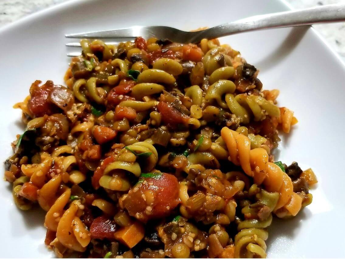 Cooking With Wine-Vegetarian Ragu Pasta
