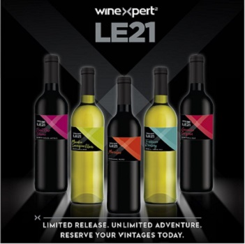 LE21 Logo with bottles
